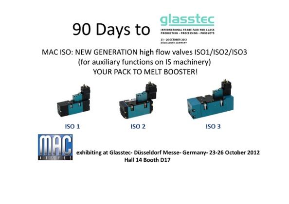 90 Days till MAC Valves Europe will be Exhibiting at Glasstec 2012!