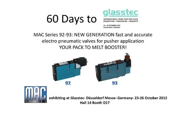 60 Days till MAC Valves Europe will be Exhibiting at Glasstec 2012!