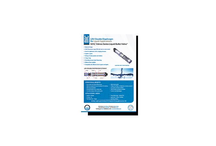 Featured Product: MAC Liquid Bullet Valve® Double Diaphragm