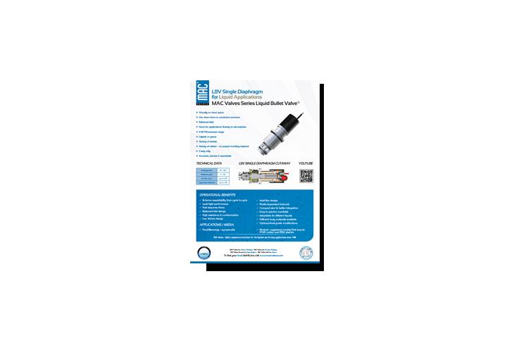 Featured Product: MAC Liquid Bullet Valve® Single Diaphragm