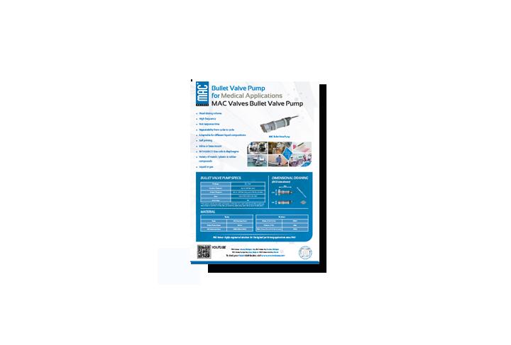Featured Product: MAC Liquid Bullet Valve® Pump for Medical Applications